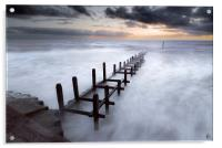 Grey Dawn at Overstrand, Acrylic Print