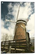 Horsey Mill from ground level, Acrylic Print