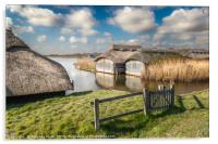 Boathouses at Hickling Broad, Acrylic Print