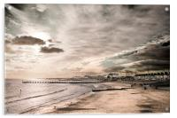 Lowestoft Central Beach, Acrylic Print