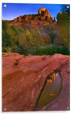 Red Rock Reflection, Acrylic Print