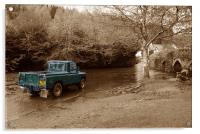 Landrover v The ford...!, Acrylic Print