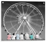 Watching the wheel, Acrylic Print