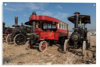 Steam bus and Friends , Acrylic Print