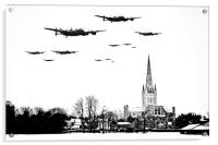 Lancasters over Norwich Cathedral, Acrylic Print