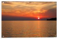 Sunset over Trieste Bay, Acrylic Print