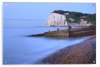 Sunrise at the White Cliffs of Dover, Acrylic Print