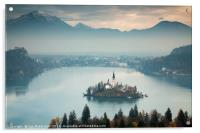 View of Lake Bled from Ojstrica, Acrylic Print