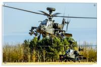 Two AH64 Apache helicopters, Acrylic Print
