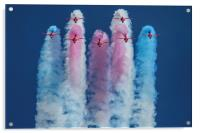 Red Arrows roll out 2, Acrylic Print