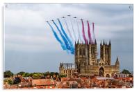 Red Arrows over Lincoln Cathedral, Acrylic Print