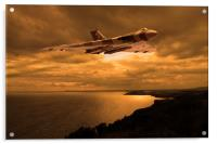 Vulcan Bomber at sunset, Acrylic Print