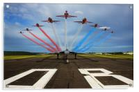 Red Arrows Vulcan XH558, Acrylic Print
