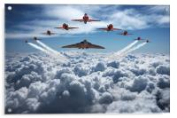 Vulcan and Red Arrows farewell flight, Acrylic Print