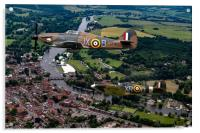 Spitfire and Hurricane over Henley, Acrylic Print