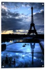 An Eiffel Reflection, Acrylic Print