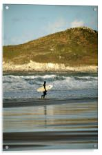 Surfer at Woolacombe, Acrylic Print