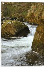 waterfall on the East Lyn River, Acrylic Print
