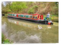 Narrowboat Along The Kennet And Avon, Acrylic Print