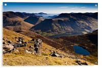 Red Pike and Bleaberry Tarn, Acrylic Print