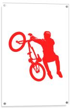 BMX in Red, Acrylic Print