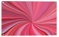 Pink Abstract Art, Acrylic Print