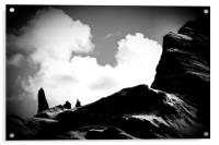 Old Man of Storr Silhouette, Acrylic Print