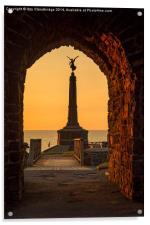 Aberystwyth War Memorial at sunset, Acrylic Print