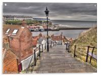 Whitby On a Cloudy Day, Acrylic Print