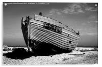 Dungeness Boat Past its Prime, Acrylic Print