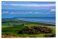 St Catherines Chapel and Chesil Beach , Acrylic Print
