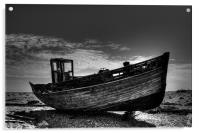 Dungeness Boat Days Gone, Acrylic Print