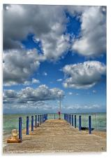 Whitstable Harbour Wall, Acrylic Print