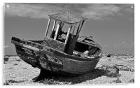 Shingle Sailor Boat Dungeness, Acrylic Print