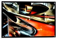 racing colours 2, Acrylic Print