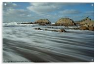 Blegberry beach Devon, Acrylic Print