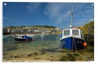 Mousehole in Cornwall, Acrylic Print