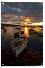 Sunset at Teignmouth, Acrylic Print