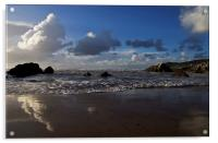 Barricane Beach in North Devon, Acrylic Print