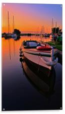 Boats on the Exeter Canal, Acrylic Print