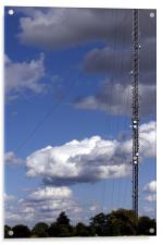 Trees Cloud Sky Mast, Acrylic Print