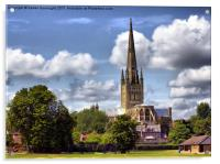Norwich Cathedral., Acrylic Print