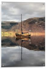 Sailing Boat On Loch Leven, Acrylic Print