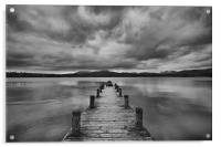 Wooden Jetty at Windermere, Acrylic Print