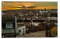 Whitby Sunset On The 199 Steps., Acrylic Print