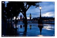 Westminster Puddle, Acrylic Print