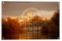 St. James's Park and the London Eye, Acrylic Print