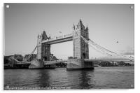 Helicopter at Tower Bridge, Acrylic Print