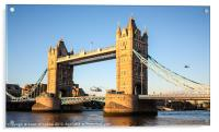 Helicopters at Tower Bridge, Acrylic Print