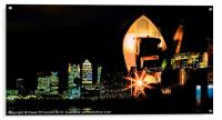 Thames Barrier and Docklands, Acrylic Print